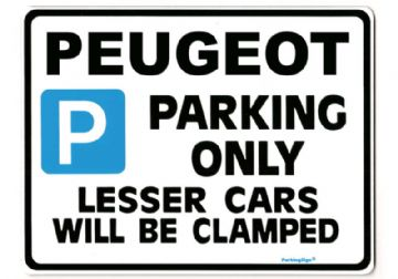 PEUGEOT Large Metal Sign for 106 206 306 307  406 407